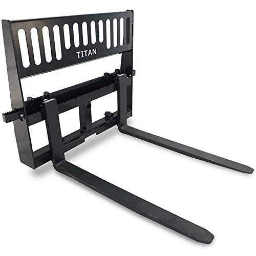 """Titan Pallet Fork Attachment for Tractors and Skid Steers, Universal HD 48"""""""