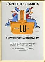 ポスター レイモン サビニャック Liart et les Biscuits 1980 額装品 アルミ製ハイグレードフレーム(ゴールド)