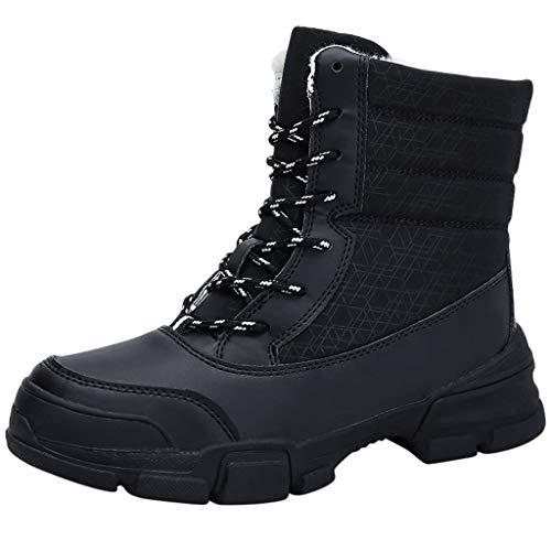 TWIFER Botas de Nieve Otoño Invierno para Mujer Zapatillas Ligero Botines Que Caminan Zapatos de Trabajo Formal Calzado Suela Antideslizante Azul Negro Blanco Rojo