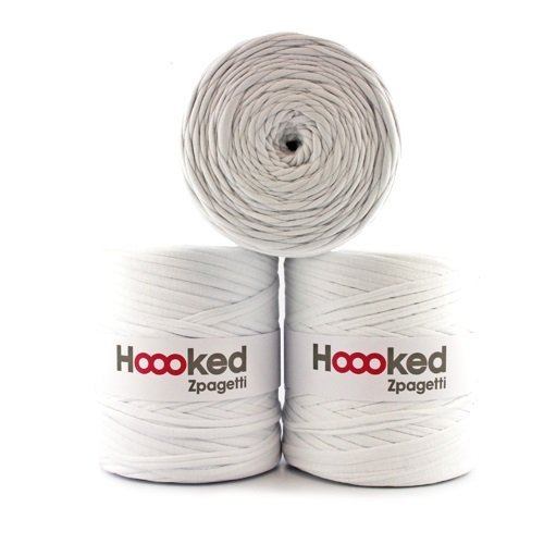 Hoooked Zpagetti Textilgarn 120 m Rolle Wahl (weiß)