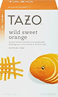 Herbal Infusion Tea-Wild Sweet Orange (Decaf) Tazo Teas 20 Bag