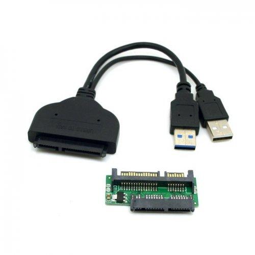 Cablecc 1 Unidades USB 3.0 a SATA 22Pin y SATA a Micro...