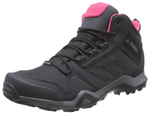 adidas Damen Terrex AX3 MID GTX W Trekking-& Wanderstiefel, Grau (Carbon/Core Black/Active Pink 0), 40 EU