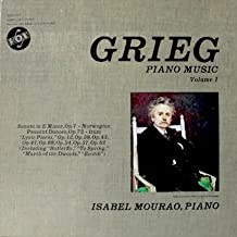 Grieg Piano Music Volume 1 / Isabel Mourao, Pianist: (4 Record Box Set insert included) Sonata In E Minor, Op. 7. Lyric Pieces, Op. 12, Op. 38, Op. 43, Op. 47, Op. 68., Op. 54, Op. 57 & Op. 62 Norwegian Peasant Dances, Op.72