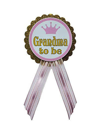 Grandma to be Pin Princess Baby Shower Pin Grandma to wear at Baby Shower, Pink & Gold, It's a Girl, Baby Sprinkle