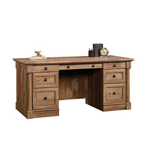 Sauder Palladia Executive Desk, Vintage Oak finish