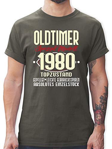 Geburtstag - Oldtimer Spezial Modell 19780-40. Geburtstag - L - Dunkelgrau - 40 Geburtstag Geschenk - L190 - Tshirt Herren und Männer T-Shirts