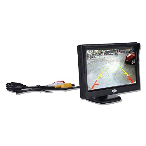 Digitaler TFT-LCD-Farb-Rückfahr-Monitor für Rückfahrkamera, unterstützt alle Autos mit 12 V / 24 V Leistung, High Definition 800 (RGB) x 480 Pixel
