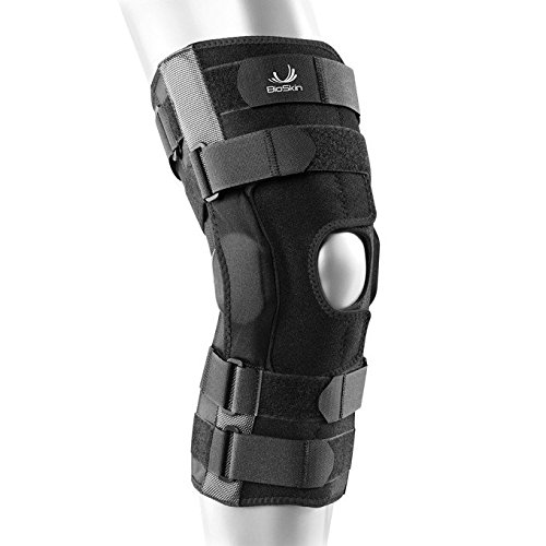 BIOSKIN Gladiator Knee Brace – Adjustable Hinged Knee Brace for ACL, MCL, LCL, PCL and General Knee Support (S)