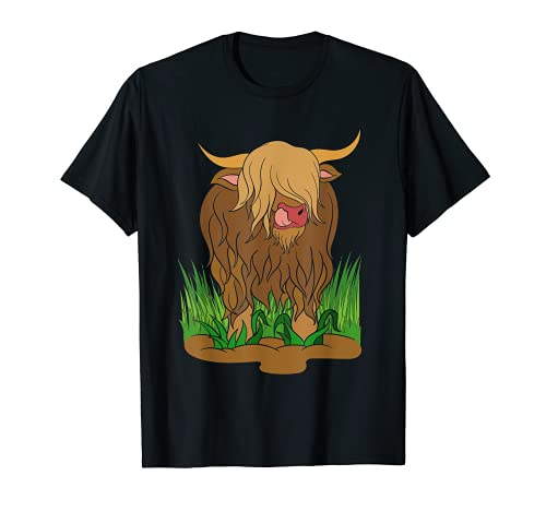 Vaca Escocesa Animal Granja Granjero Escocia Lindo Vaca Camiseta