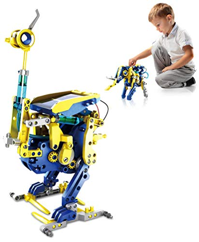 FXQIN 12-in-1 Robotica Hidráulica Juguete Robot Solar, Kit de DIY Robots, Juguetes Stem Educativa para Niños de 8 a 12 años Kit de Construcción Robot Solar Robotica Educativa