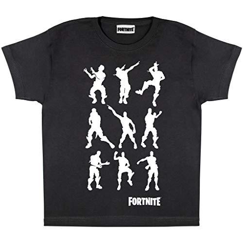 Fortnite Dancing Emotes Jungen-T-Shirt Schwarz 128