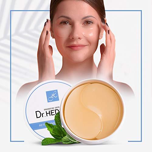 60 Parches para los ojos - Producto Premium - Cosmetica Coreana - Ojos Parches - Parches Hidrogel - Antiojeras Mujer - Contorno de Ojos Antiarrugas - Corrector de ojeras - Elimina bolsas y ojeras