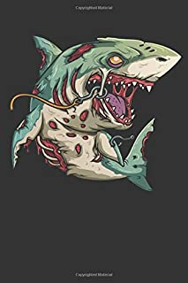 2020 Week To View Dated Planner Diary: 6x9 Inches Paperback Halloween Zombie Shark