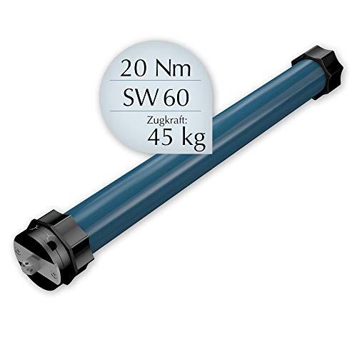 EVEROXX Rolladenmotor, inkl. Adapter für Achtkant-Welle, Rechts- & Linkseinbau, Wartungsfrei, Leistung/Wellengröße: 20/15 Ø45 - für Welle SW 60