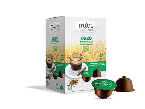 ORZO BIOLOGICO in capsule compatibili Dolce Gusto - Must Espresso Italiano - 96 CAPSULE - 16 capsule x 6 confezioni