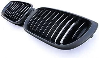Matte Black M Kidney Euro Sport Front Hood Grill For BMW 4D E46 LCI Facelift 02-05