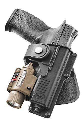Fobus RBT19 Tactical Holster for Glock 19, 23, 32, 45- Light or Laser Required, Right Hand Paddle