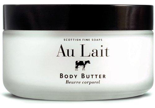Scottish Fine Soaps Au Lait Body Butter 7 Oz In Glass Jar From Scotland