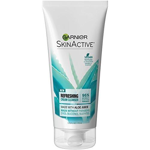 Garnier SkinActive Cream Face Wash with Aloe Juice, Dry Skin, 5.75 fl. oz.