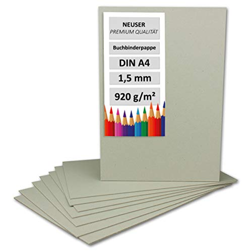Libro Binder cartón DIN A4 (grosor 1,5 mm, gramaje: 920 g/m² | Formato: 297 x 210 mm