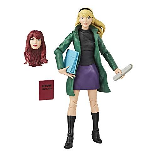 Spider-Man-Hasbro Marvel Legends Series Figura de acción Coleccionable de Gwen Stacy de 6 Pulgadas E9322
