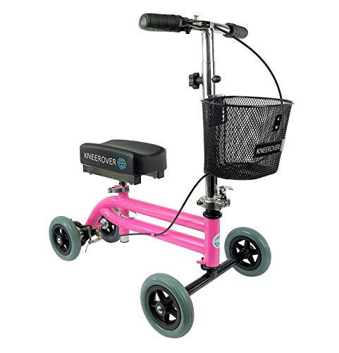 KneeRover Kids Knee Walker Child Knee Scooter Pediatric Crutch Alternative in Pink