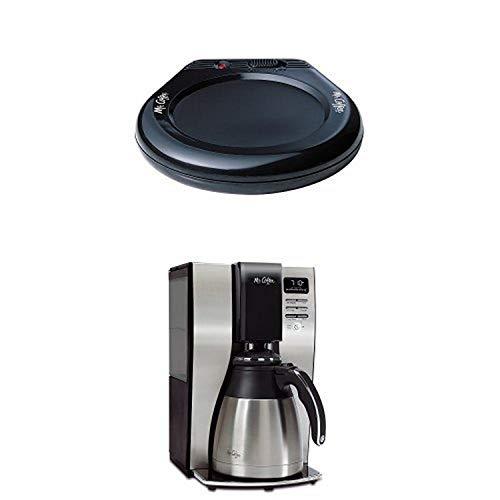 Mr. Coffee MWBLK Mug Warmer and BVMC-PSTX91 Optimal Brew 10-Cup Thermal Coffeemaker Bundle