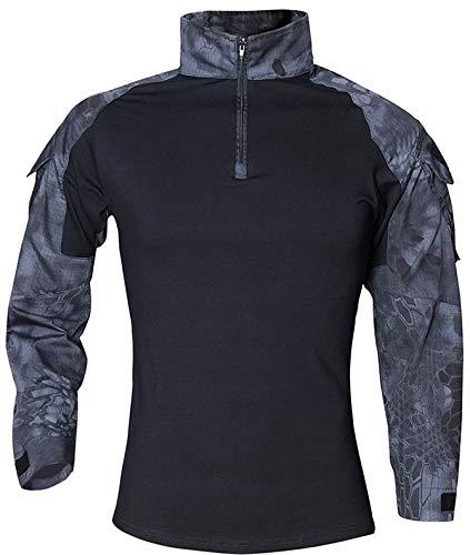 NXDRS Camisa táctica Ripstop para Hombre Camisa de...