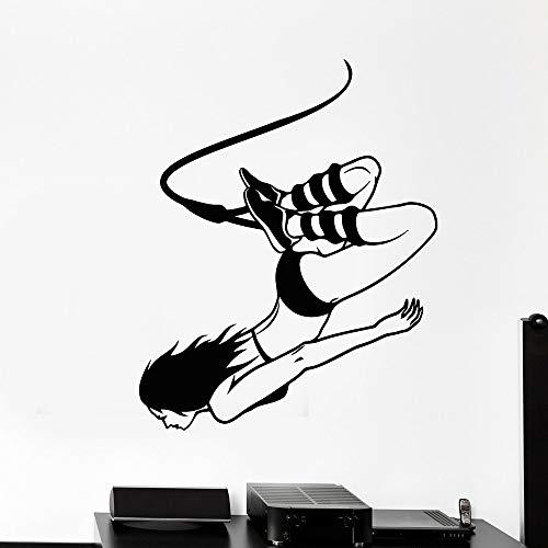 Tianpengyuanshuai Vinyl Wandtattoo Jump Extreme Sports Set Wandaufkleber Jugendzimmer Home Decor Schlafzimmer 39X50cm