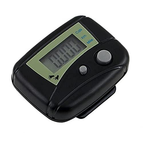 Präziser Mini-Schrittzähler, tragbar, LCD-Schrittzähler, Entfernungsmesser, Kalorienzähler mit Clip, für Schritte, genaues Zählen, Zubehör, Schwarz