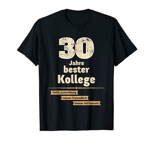 Camiseta de regalo para aniversario de la empresa 30 años mejor compañero. Camiseta