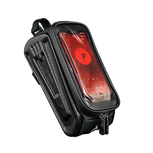 Bicycle Bag,Bike Touchscreen Phone Bag,Waterproof Bike Pouch Bag,Bike Handlebar Bag,phone Holder For Bike Waterproof,Road Bike Bag,Bike Frame Bag,bike Bag,Suitable For All Phones Under 7.5 Inches