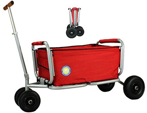 Beachtrekker Life Farbe rot Faltbarer Bollerwagen der Spitzenklasse