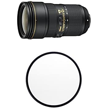 Nikon AF-S FX NIKKOR 24-70mm f/2.8E ED VR Zoom Lens with Auto Focus for Nikon DSLR Cameras w/B+W 82mm Clear UV Haze with Multi-Resistant Coating
