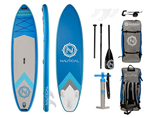 iROCKER Nautical Inflatable Paddle Board | Blue