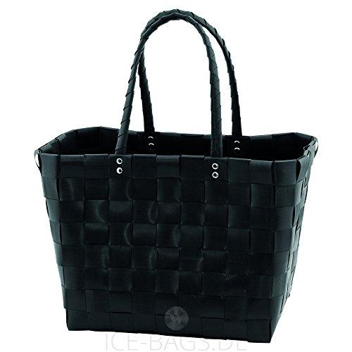 Witzgall Shopper Vintage Style 5010 55 TINE schwarz, 37cm x 24cm x 28cm, Einkaufstasche, Einkaufsshopper
