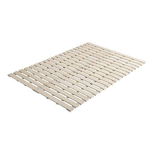 桐のすのこベッド すのこマット ダブル ロール式 木製 湿気対策 スノコ オールシーズン使えるすのこベッド 梅雨や冬の時期にも 省スペース フロアベッド ローベッド