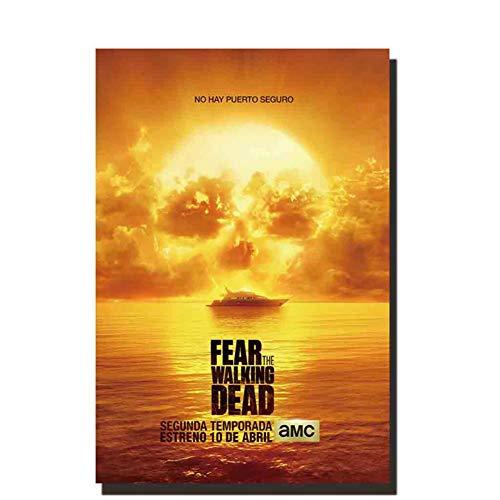 chtshjdtb Fear The Walking Dead Staffel 2 Filmkunst Poster und Drucke Leinwand Malerei Home Wanddekoration -50X70Cm No Frame 1 Pcs