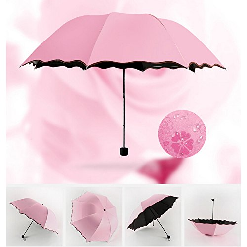 Cheapest Prices! Geartist UM02 Folding Umbrella Magical Bloom Flower in Rain Water Fashion Exquisite...