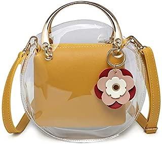 Jelly Bag Female New Wave Summer Small Bag Shoulder Messenger Bag Plastic Beach Bag Transparent Mother (Color : Yellow)
