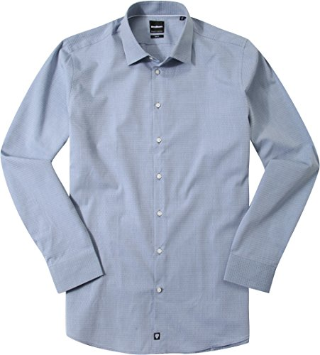 Strellson Premium Herren 11 Elleon 10000215 Businesshemd, Blau (Hellblau 458), Kragenweite: 38 cm