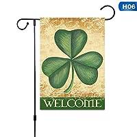 ミニコートヤードバナーガーデンバナー ガーデンサイン、ハウスのスタイリッシュな装飾(旗竿なし) (色 : 6, Size : 30 x 45cm)