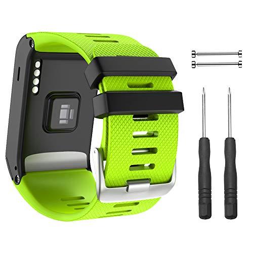 NotoCity Armband für Garmin Vivoactive HR Sport GPS Smartwatch,Premium Silikon Quickfit Armbänder Kompatibel mit Garmin Vivoactive HR,Mehrfache Farben (Grün)