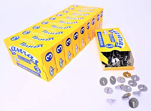 1000 stuks ASTRA STAAL nr. 3 - Diam. mm. 11,5-10 boxen 100 stuks. - Leeuw Dell'Era Made in Italy