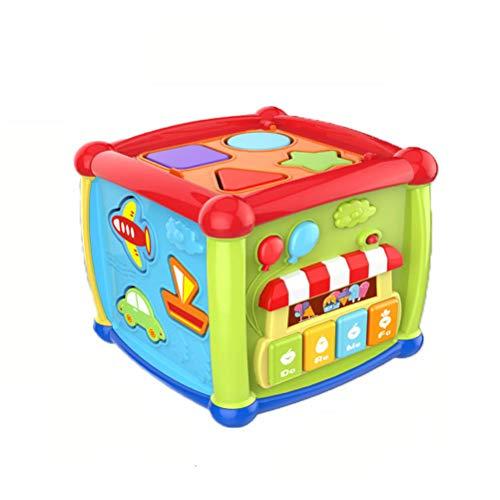 Toyvian Motorikwürfel Baby Aktivitätswürfel Elektronisch Musikspielzeug Kinder Lernspielzeug Motorikspielzeug (Zufällige Farbe)