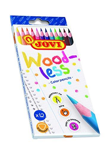 Jovi Lápices de colores Woodless, 12 unidades, Colores surtidos (734/12), Única