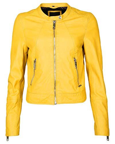 Maze Damen Bikerjacke Mit Coolen Zippern Grenada Yellow XXL
