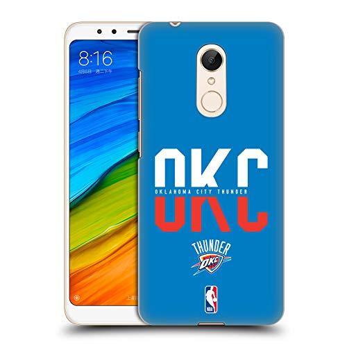 Head Case Designs Oficial NBA Tipografía 2019/20 Oklahoma City Thunder Carcasa rígida Compatible con Xiaomi Redmi 5