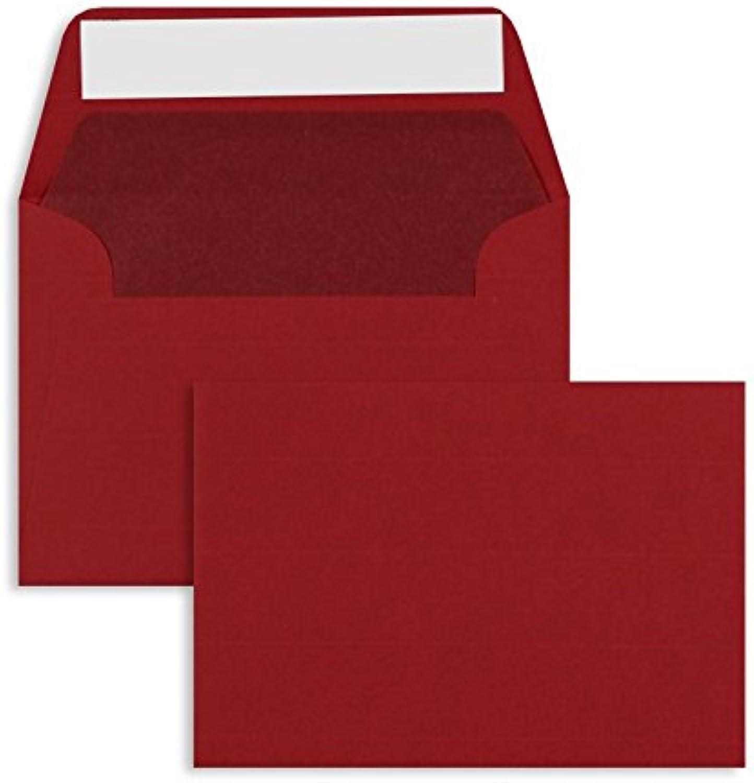 Farbige Briefhüllen   Premium   114 x 162 mm (DIN C6) Rot (100 Stück) mit Abziehstreifen   Briefhüllen, KuGrüns, CouGrüns, Umschläge mit 2 Jahren Zufriedenheitsgarantie B00H53SFN4   Ausgezeichnet
